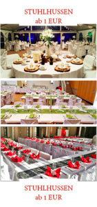 Tischdeko und Stuhlhussen mieten für Hochzeit in Nürnberg