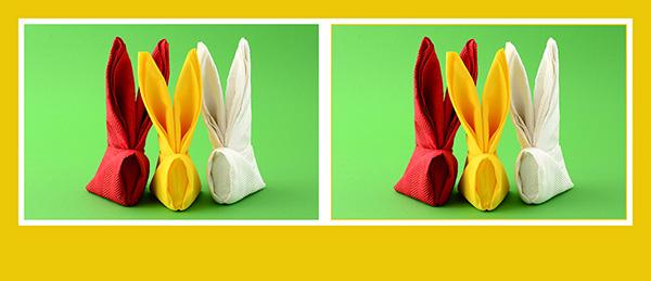 Servietten falten Anleitung Ostern