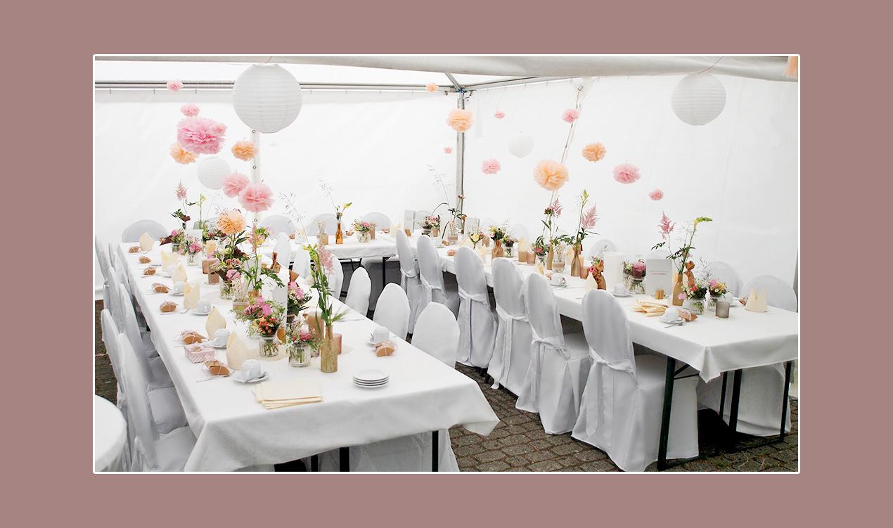 Hochzeitszelt-Deko-Zelthochzeit