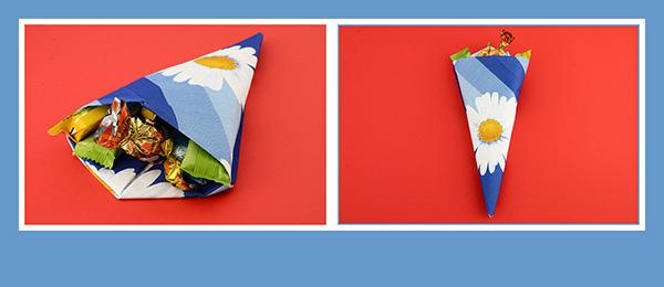 Papier Servietten falten Geburtstag Kindergeburtstag