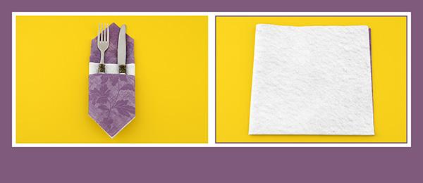 Papierservietten  Bestecktasche