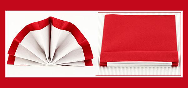 Papierservietten falten 33x33