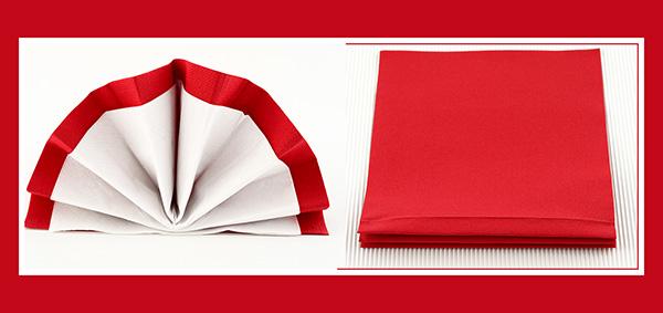 Papierservietten falten 40x40