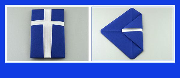 Papierservietten falten Anleitung 40x40