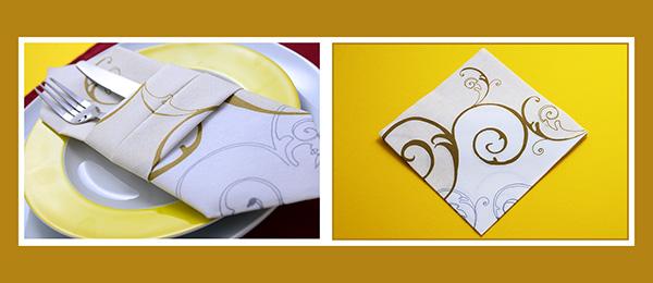Papierservietten falten Anleitung Bestecktasche