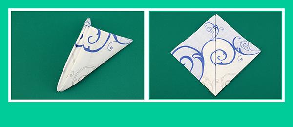 Papierservietten falten Anleitung  für Party