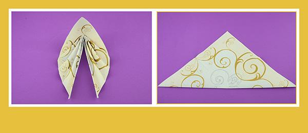 Papierservietten falten Anleitung Hochzeitsdeko