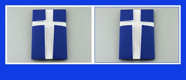 Papierservietten falten Anleitung Kreuz 2