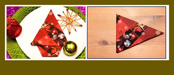 Papierservietten falten Anleitung Weihnachtsbaum