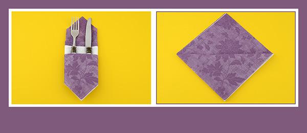 Papierservietten falten Anleitung