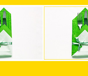 Schöne Bestecktasche aus Papierperserviette falten