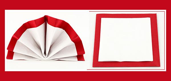 Papierservietten falten doppelter Fächer