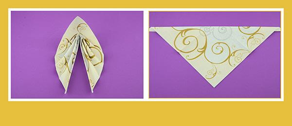 Papierservietten falten Duni Dunilin