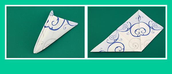 Papierservietten falten einfach und schnell