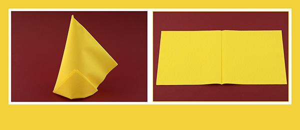 Papierservietten falten einfach