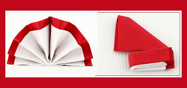 Papierservietten falten elegant