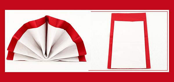 Papierservietten falten Fächer
