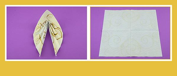 Papierservietten falten für Hochzeitsdeko 1
