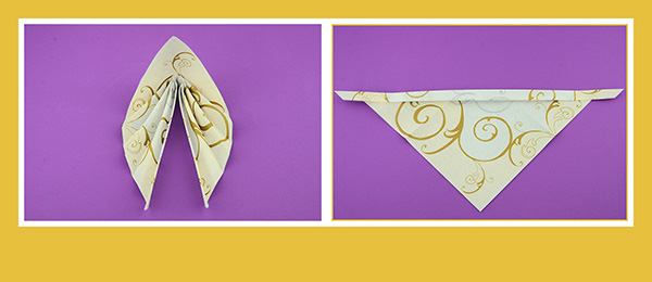 Papierservietten falten für Hochzeitsdeko 2