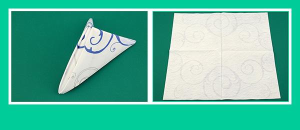Papierservietten falten Geburtstag