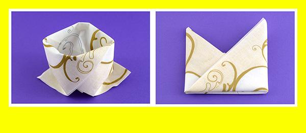 Papierservietten falten Goldene Hochzeit 10