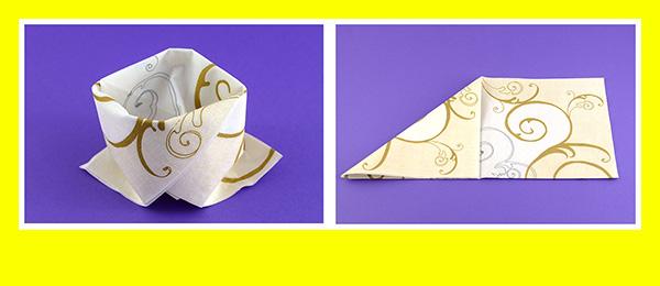Papierservietten falten Goldene Hochzeit 2