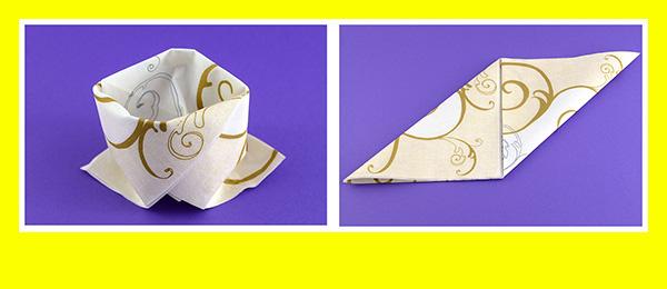 Papierservietten falten Goldene Hochzeit 3