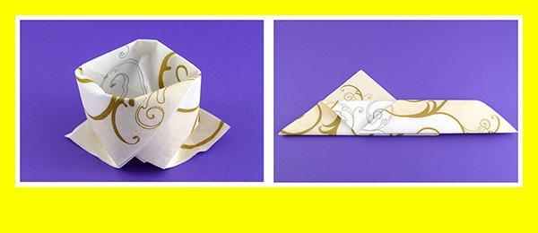 Papierservietten falten Goldene Hochzeit 5