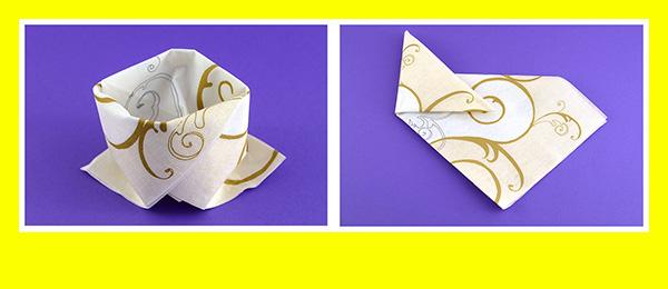 Papierservietten falten Goldene Hochzeit 7