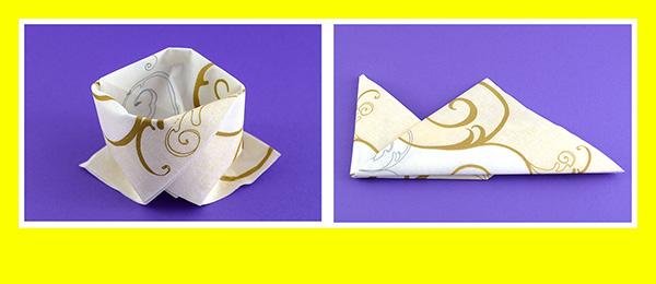Papierservietten falten Goldene Hochzeit 8