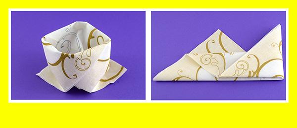 Papierservietten falten Goldene Hochzeit 9
