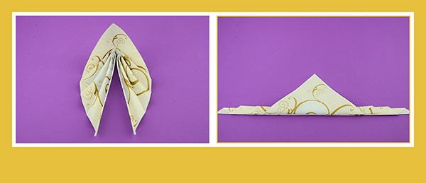 Papierservietten falten goldene Hochzeit
