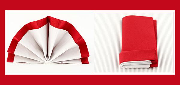 Papierservietten falten Hochzeit