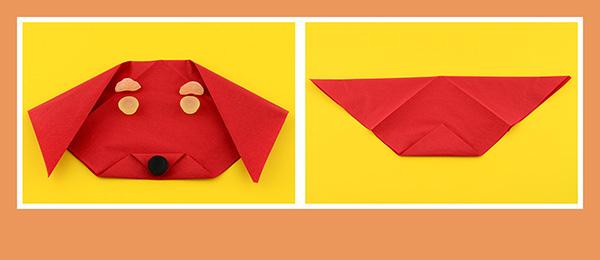 Papierservietten falten Kindergeburtstag 4