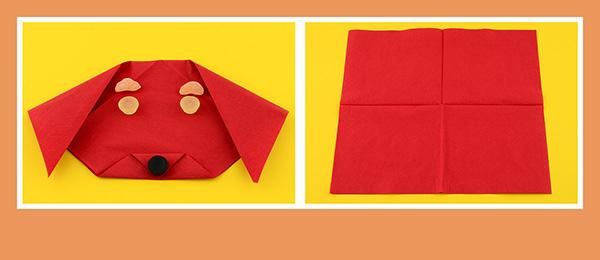 Papierservietten falten Kindergeburtstag Anleitung