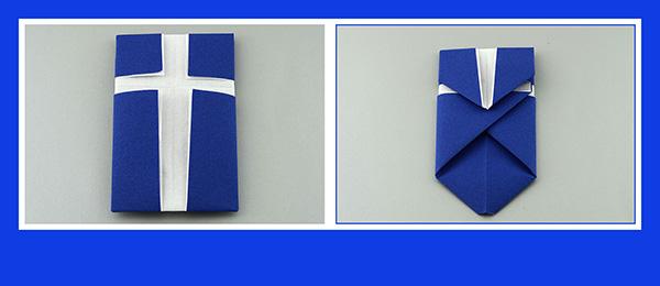 Papierservietten falten Kreuz