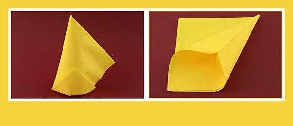 Papierservietten falten schnell 40x40