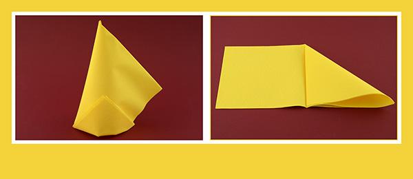 Papierservietten falten schnell Geburtstag