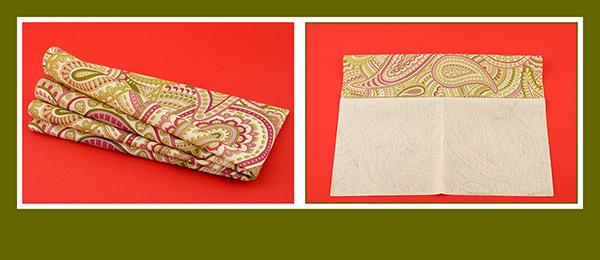 Papierservietten falten schnell und einfach