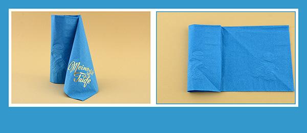 Papierservietten falten Taufe