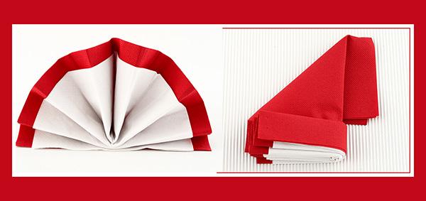 Papierservietten falten Tischdeko
