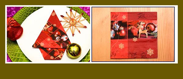 Papierservietten falten Weihnachtsbaum schnell und einfach 1