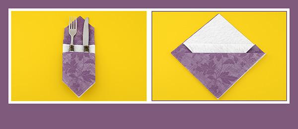 Papierservietten falten zum Früstück