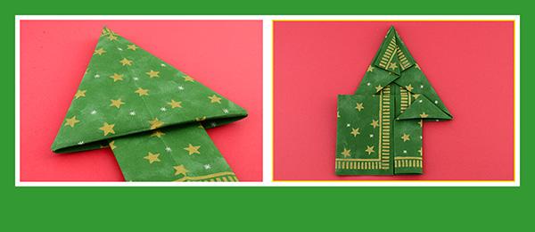 Papierservietten zu Weihnachten