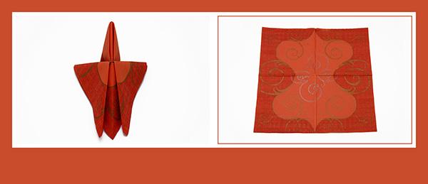 Hervorragend Papierservietten falten Schmetterling QD11