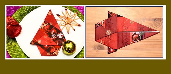 Schnell Servietten zu Weihnachten falten