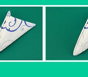 Papierservietten falten Dreieck zum Geburtstag