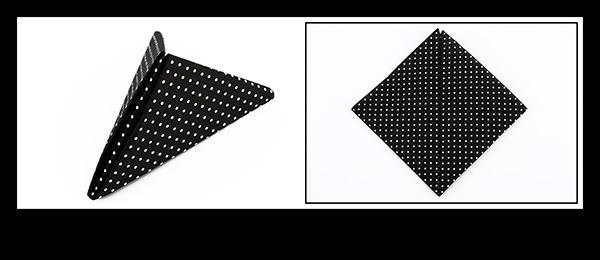 Servietten falten Anleitung Pyramide zur Abifeier
