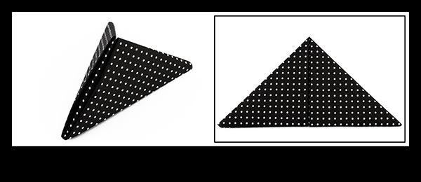Servietten falten Anleitung Pyramide