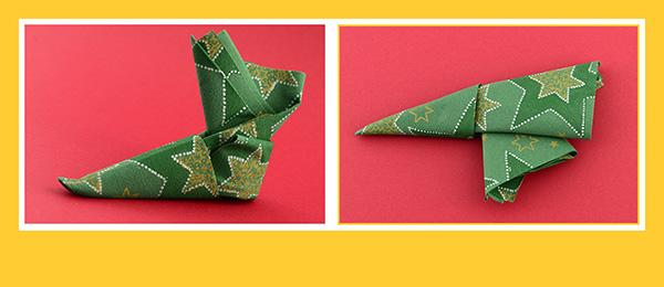 Serviettentasche Falten papierservietten falten anleitung stiefel